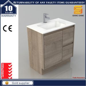 48′′ Melaimine Floor Mounted Bathroom Cabinet Vanity with Wash Basin pictures & photos