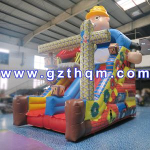 Cartoon Design Children Inflatable Bouncer Jumping/Inflatable Bouncer with Slide pictures & photos