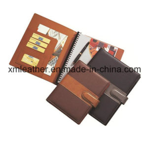 Leather PU Hardbound Agenda Business Spiral Notebook pictures & photos