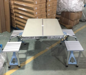 Aluminum Alloy Conjoined Picnic Tables Leisure Folding Tables Folding Table and Chairs (M-X3584) pictures & photos