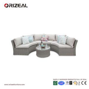 Outdoor Rattan Half Moon Sofa Set Oz-Or067 pictures & photos