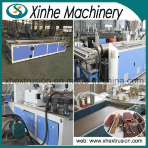 PVC Wood Plastic WPC Profile Extrusion Production Line Machine pictures & photos