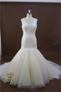 2017 New Mermaid Bridal Wedding Dresses Sweetheart Lace Appliques Wedding Gown pictures & photos