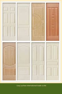 Natural Veneer Faced MDF HDF Mould Door Skin pictures & photos