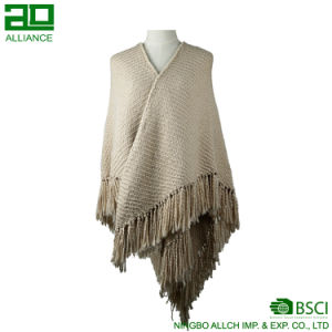 Fashion Women Winter Shawls with Tassels pictures & photos