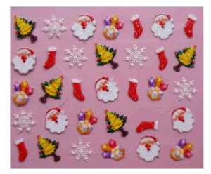 Christmas 3D Nail Art Stickers Xmas Gifts Nail Stickers