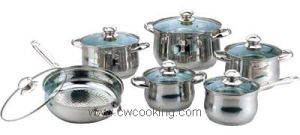 Cooker-12PCS Stainless Steel Cookware Set Cookery Set pictures & photos