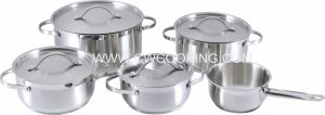 9PCS Stainless Steel Cookware Set with Ss Flat Lid pictures & photos