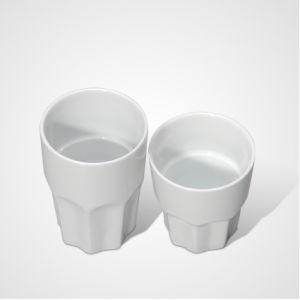 China Fashion Style Porcelain Compartments Mug for Hotel pictures & photos