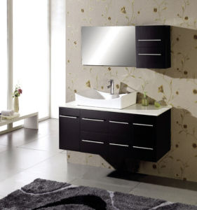 Solid Oak Wood Wall Hung Modern Bathroom Vanity pictures & photos