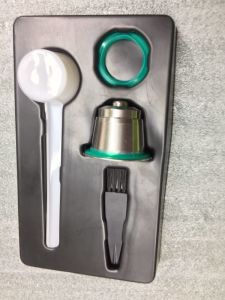Green Stainless Steel Reusable Seal Pod for Nespresso pictures & photos