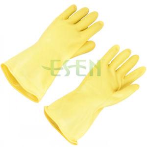 70g-85g Yellow Industrial Latex Glove/Hand Work Rubber Industrial Latex Rubber Gloves pictures & photos
