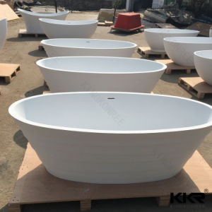 Modern Solid Surface Oval Freestanding Bathtub pictures & photos