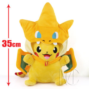 Stuffed Pikachu with Charizard Hat Pikachu Plush Toy pictures & photos