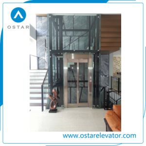 Indoor and Outdoor Type Household Villa Glass Home Lift pictures & photos