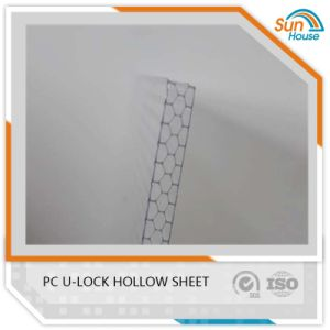 18mm Honeycomb Polycarbonate U Lock Hollow Sheet