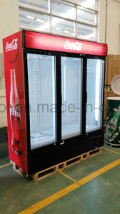 Three Swing Door Soft Drink Display Cooler with Digital Controller pictures & photos