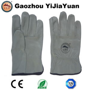 Natural Top Grain Leather Driving Gloves pictures & photos