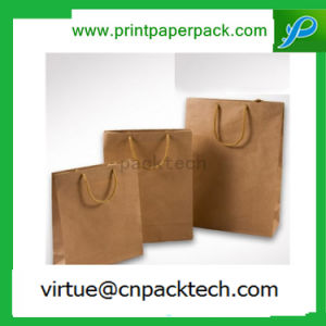Low Cost Custom Brown Color Regular Kraft Paper Bag for Double Wine Packaging pictures & photos