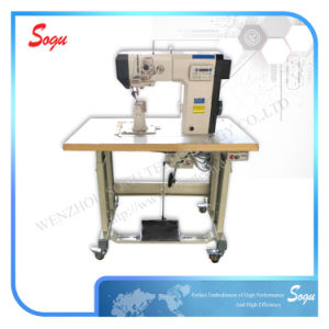 Single Needle Post Bed Direct Driver Lockstitch Industrial Shoe Leather Sewing Machine pictures & photos