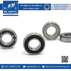 Low Noise Friction Rubber Sealed Deep Groove Ball Bearing (6002-2RS) pictures & photos