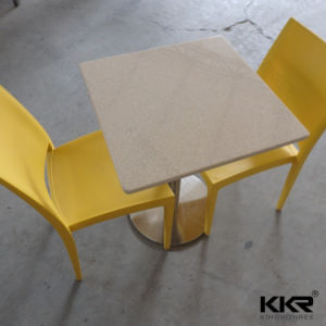Home Furniture Artificial Stone 4 Chairs Food Court Table 0714 pictures & photos
