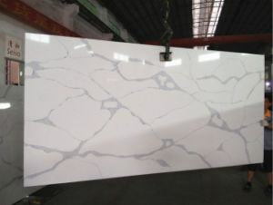 Artificial Calacatta Marble Veins Artificial Quartz Stone Slabs pictures & photos
