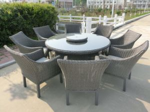 Round Wicker Dining Set with High Quality pictures & photos