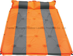 Hot Outdoor Self-Inflating Double Camping Mattress with Pillow