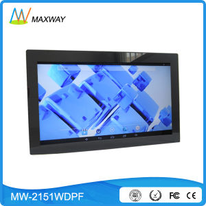 Android Touch Screen WiFi Wireless All Digital Photo Frame OEM Factory 21.5 Inch pictures & photos