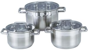 6 PCS Stainless Steel Double Handles Soup Pot Kitchenware pictures & photos