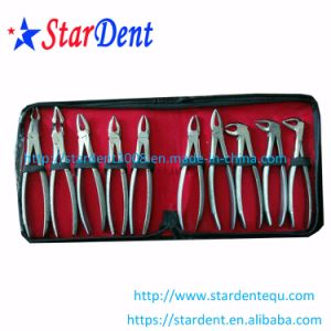 Dental Stainless Steel Tooth Forceps of Surgical Instrument (10PCS/set) pictures & photos