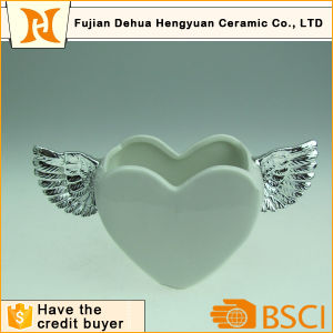 Heart Cookie Jar with Angel Wing for Home Decoration pictures & photos
