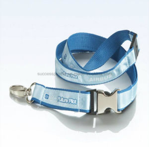 Customized Polyester Lanyards with Printed Satin Sewed pictures & photos
