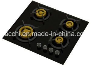 Supreme Four Brass Burner Gas Hob (8mm Glass) pictures & photos