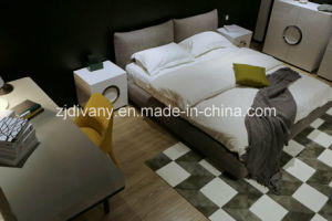 New Fashion Style Bedroom Wooden Fabric King Bed (A-B42) pictures & photos