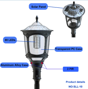 Unique Design 2017 New Solar Integrated LED Lamp with Motion Sensor pictures & photos