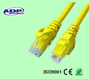 8p8c RJ45 UTP FTP SFTP Solid Copper Cat5e LAN Network Cable Patch Cord Jumper Cable pictures & photos
