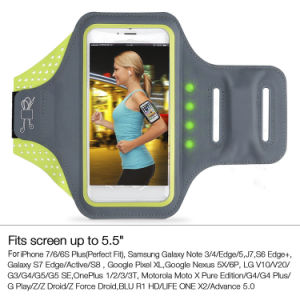 Battery Free Self-Powered LED Running Armband Case for iPhone 7/7 Plus pictures & photos