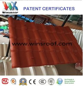 Winsroof Patent Spanish Roof Tile 720 Width-PMMA/ASA Synthetic Resin Roof Tile pictures & photos