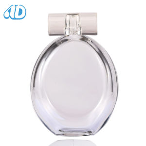 Ad-P337 Glass Oval Perfume Bottle Metal Frame 100ml 25ml pictures & photos