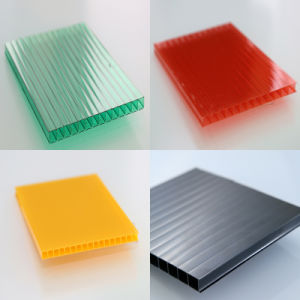 6mm Crystal Polycarbonate Hollow Roofing Shees for Custom Skylight Carport pictures & photos