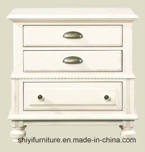 Modern Bedroom Furniture White Narrow Wood Nightstand, Bedside Table White Color Bedside Table for Home Using pictures & photos