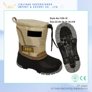Adorable Waterproof Women Snow Winter Boot with Adjustable Hook and Loop Strap pictures & photos