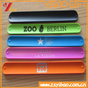 Custom Colorful Silicone Slap Bracelets for Sale pictures & photos