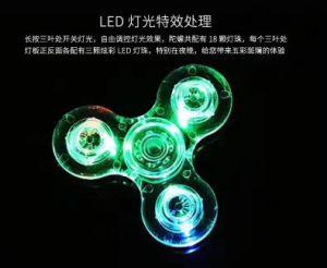 Hot Sale LED Hand Spinner Transparent LED Light Hand Spinner Fidget Crystal Plastic for Everyone