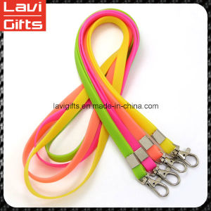 New Design Custom Silicone Lanyard with Logo pictures & photos