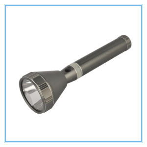 Bright High Powerful Beam Big Head Rechargeable 3W Aluminum Flashlight pictures & photos