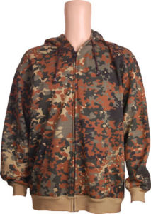 2017men Zipper Througt Jacket with Camoflage Print