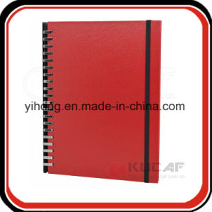 PU Note Book Paper Spiral Leaf Journal pictures & photos